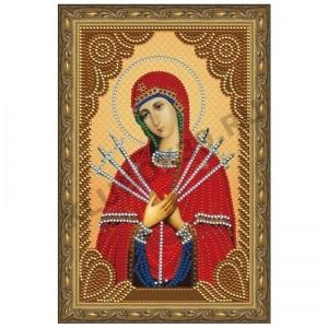 Картина стразами Богородица Семистрельная CDX 023