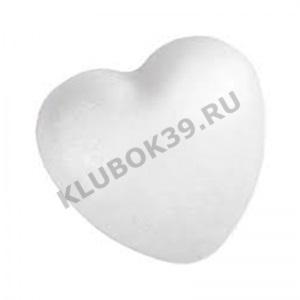 16606 сердце из пенопласта 10*11 см.